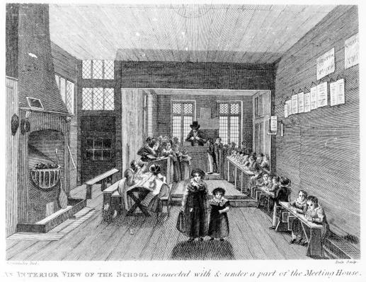An Interior View of the School published by R. Wilkinson of 125 Fenchurch St., London, 1822