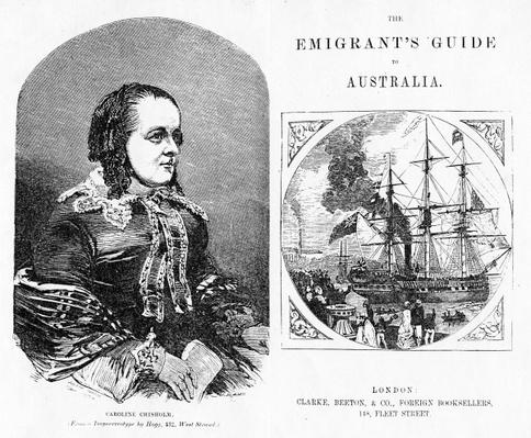 Title page and Frontispiece to 'The Emigrant's Guide to Australia', by Eneas Mackenzie