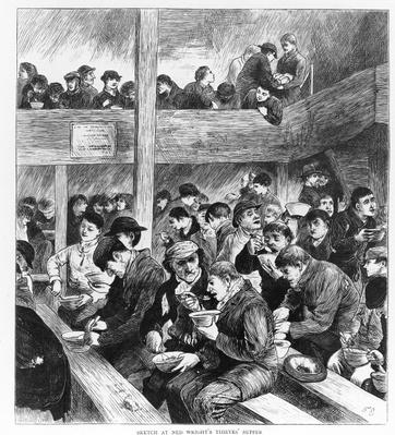 Ned Wright's Thieves' Supper, published in 'The Graphic' illustrated newspaper Saturday, February 26, 1870