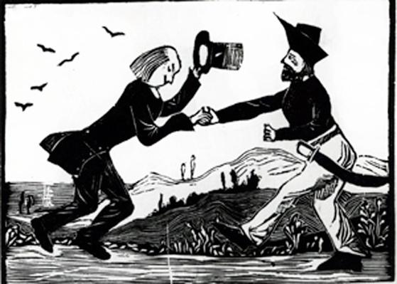 Rob and Ben, or the Pirate and the Apothecary, Illusration from 'A Stevenson Medley of Moral Tales', by Robert Louis Stevenson, 1899
