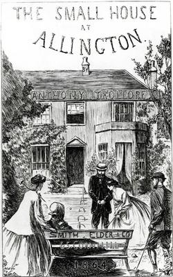 Title page of 'The Small House at Allington', by Anthony Trollope, 1864