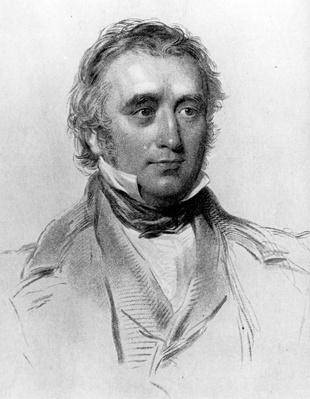 Thomas Babington Macaulay, at the age of 49. engraved by William Holl, c.1850s