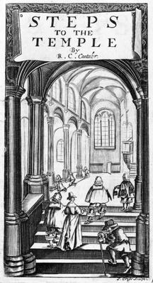 Frontispiece to 'Steps to the Temple' by Richard Crashaw, engraved by J. Cross, 1648
