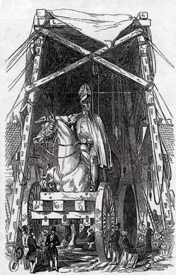 The Statue at Mr. Wyatt's Foundry, published in 'The Illustrated London News', 3rd October 1846