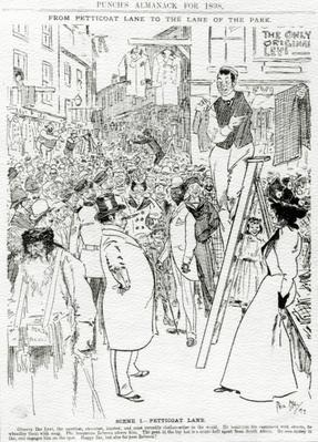 Scene I, Petticoat Lane, published in 'Punch's Almanack for 1898'