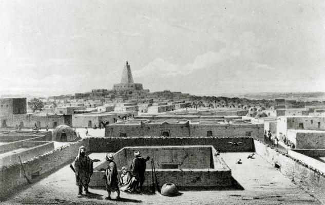 Timbuktu from the Terrace of the Traveller's House, from 'Travels and Discoveries in the North and Central Africa' published 1857-58