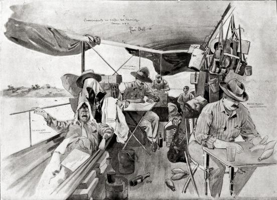 War Correspondents on the Road to Khartoum, printed in 'Black and White', 20th August 1898