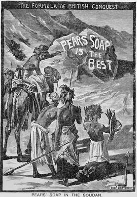Advertisment for Pears Soap, 'The Formula of British Conquest, Pears Soap in the Soudan', 1884