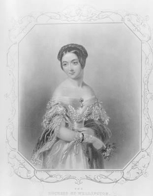 Elizabeth Wellesley, Duchess of Wellington, engraved by William and Francis Holl