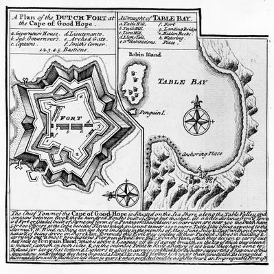 A Plan of the Dutch Fort at the Cape of Good Hope and A Draught of Table Bay