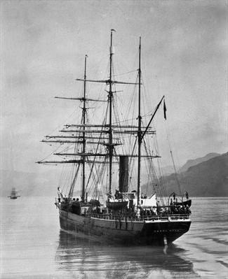 The Terra Nova sailed by Scott, in Antarctic waters, 1910