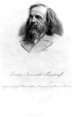 Dmitri Mendeleev, engraved by George J. Stodart