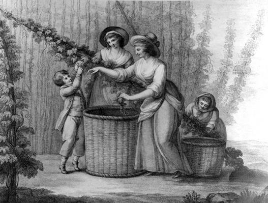 Hop Pickers, engraved by William Dickinson, 1803