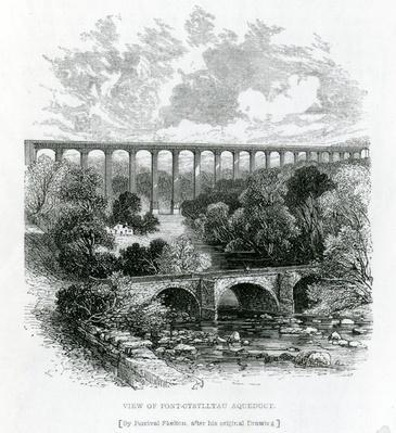 A View of the Pont-Cysylltau Aqueduct, 1861