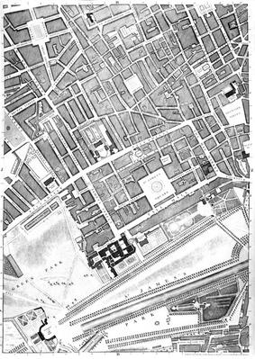 Map of St. James's, London, 1746