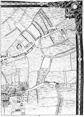 A Map of Mile End and Stepney Green, London, 1746