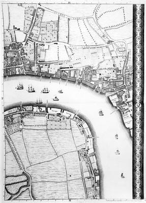 A Map of Limehouse and Rotherhithe, London, 1746