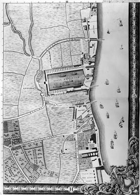 A Map of the Lower Rotherhithe Docks, London, 1746