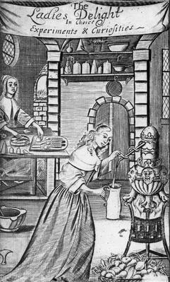 Illustration from 'The Ladies Delight in choice experiments & curiosities' by Hannah Woolley, 1672
