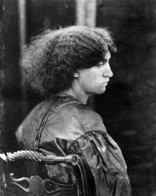 Jane Morris, posed by Dante Gabriel Rossetti, 1865