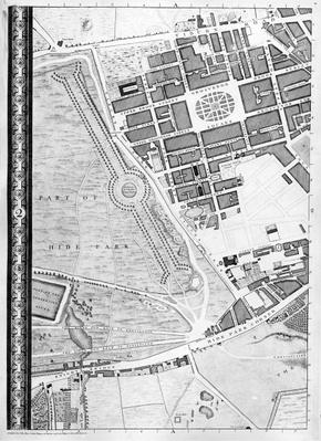 Map of Hyde Park Corner, Grosvenor Square and Tyburn, 1746