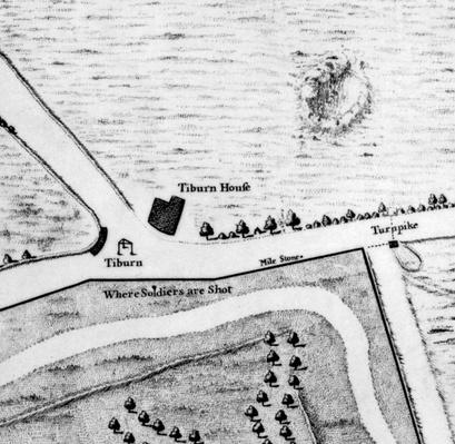 Map of Tyburn, 1746