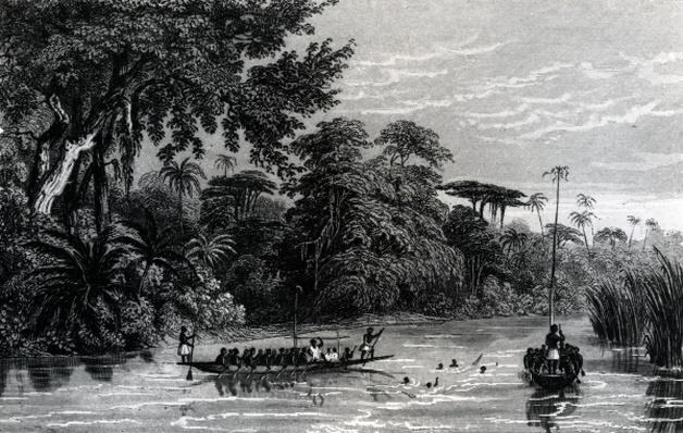 Canoes on the Niger River