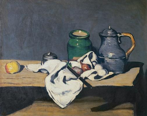 Still life with a tin kettle, 1869