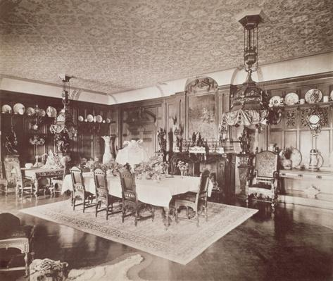 The Dining Room, Wickham Hall, Kent, 1897