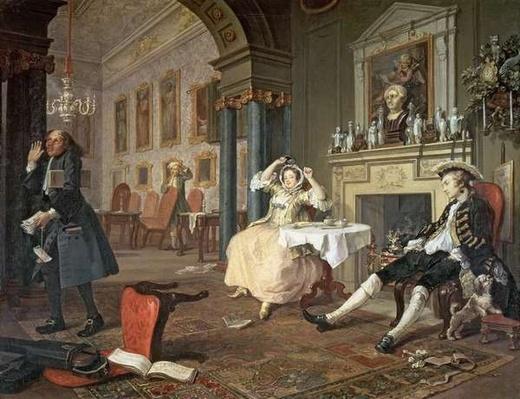Marriage a la Mode: II - The Tete a Tete, c.1743
