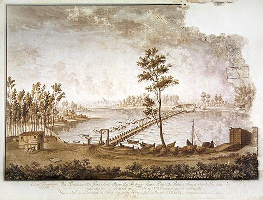 A View of the Bridge over the River Po at Pavia, 1797