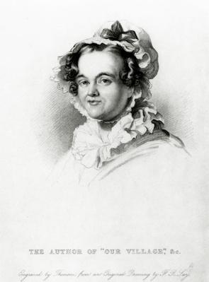 Mary Russell Mitford, engraved by Thomson