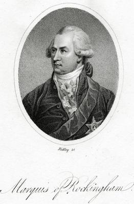 The Marquis of Rockingham, engraved by William Ridley, from 'Junius Stat Nominus Umbra' attributed to Sir Philip Francis, published 1805