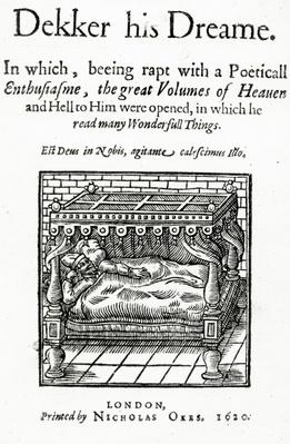 Title Page for 'Dekker his Dreame' by Thomas Dekker, published 1620