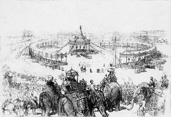 General bird's-eye view of the Imperial Durbar at Delhi, published in the Illustrated London News 10 Februrary 1877