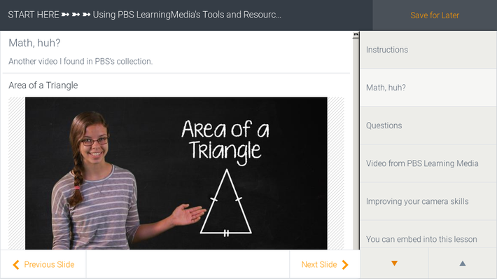 This is a lesson created using PBS's Lesson Builder.