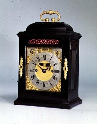 Small bracket clock with strike repeat, by Thomas Tompion