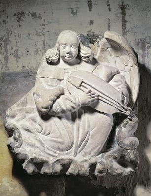Angel Musician playing a stringed instrument