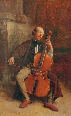 Alexandre Batta, the Cellist, 1855