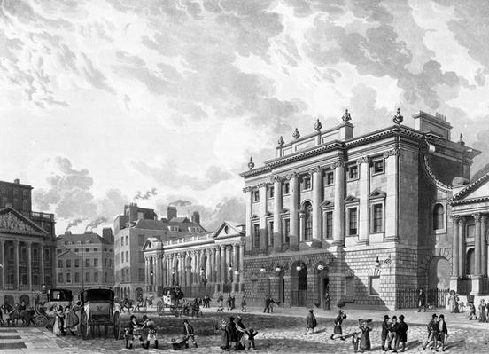 The Bank of England, engraved by D. Havell