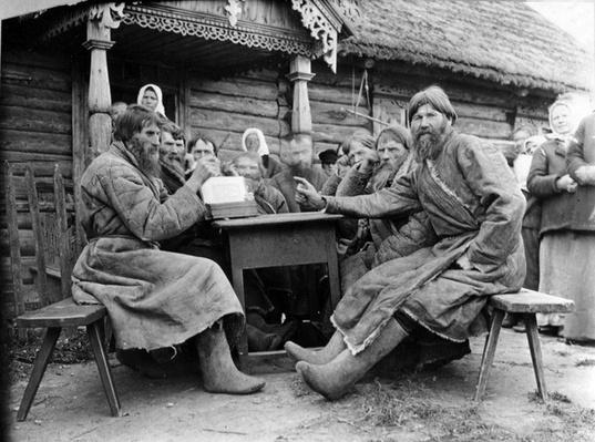 Meeting of Russian Peasant Elders in a Mirskoi Skhod