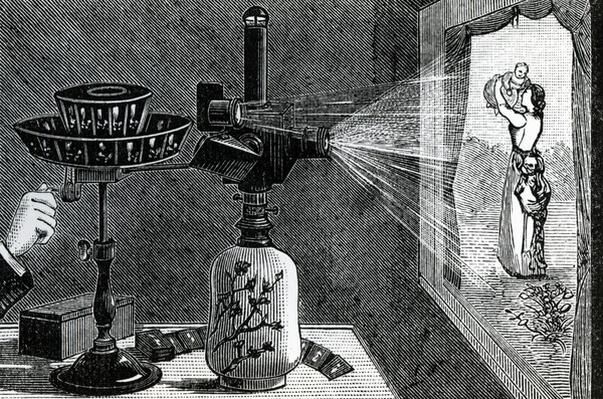 Magic Lantern projecting a maternal scene