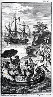 French Illustration for 'Robinson Crusoe' by Daniel Defoe