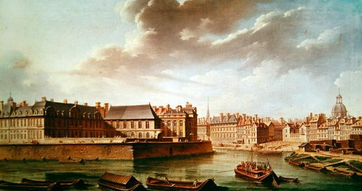 The Ile Saint-Louis and the Hotel de Bretonvilliers in 1757