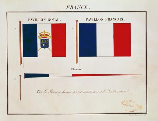Flag of Louis-Philippe I, from 'Pavillons des Puissances Maritimes'