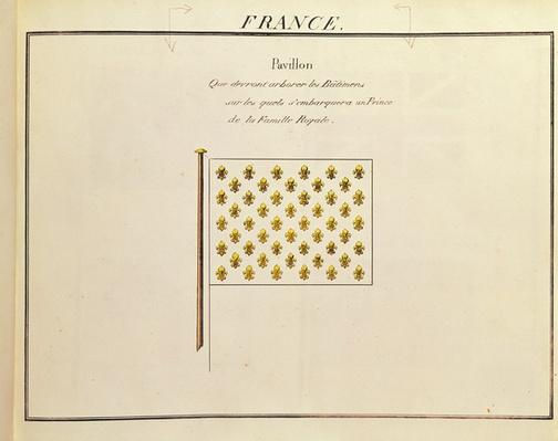 Flag of a Prince of the Royal Family, from 'Pavillons des Puissances Maritimes'