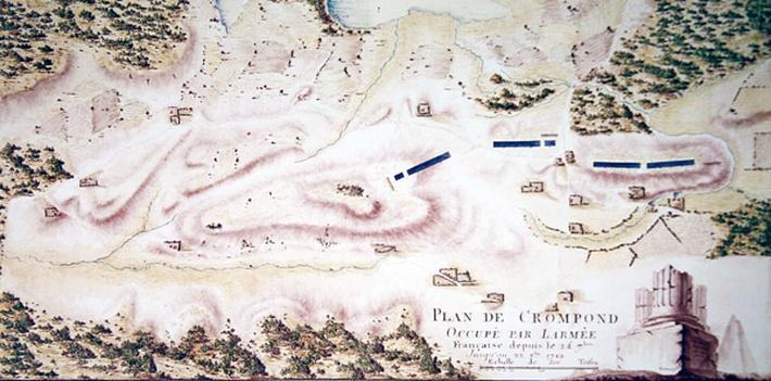 Map of Crompond, from 'Guerre de l'Amerique', 1782
