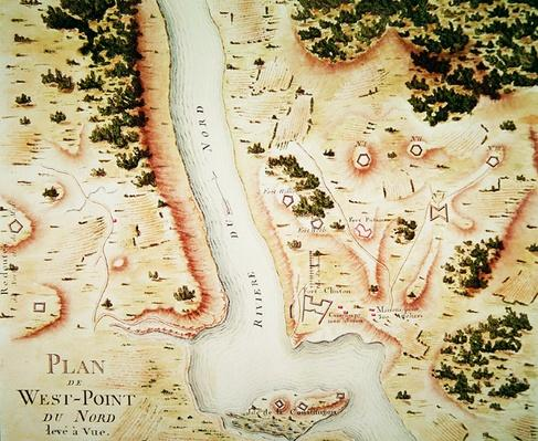 Map of north West-Point, Virginia, from 'Guerre de l'Amerique', 1782