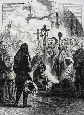 Reception of James II in Dublin, published in 'Cassell's Illustrated History of England, vol IV', 1874