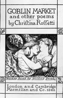 Title page for 'Goblin Market and Other Poems' by Christina Rossetti, published 1862